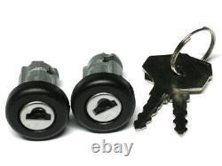 2x DOOR LOCK BARREL FRONT LEFT + RIGHT SET OR RENAULT TRAFIC 80-01 MASTER 80-98