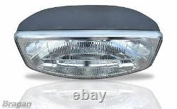 To Fit 02-14 Renault Trafic Stainless Steel Front Roof Light Bar + LEDs + Spots