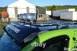 To Fit 02-14 Renault Trafic Steel Front Flat Roof Top Light Bar + Clamps + LEDs