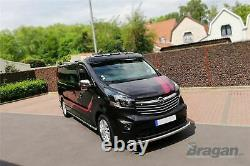 To Fit 2014+ Renault Trafic Steel Front Low Roof Light Bar + LEDs + Spots